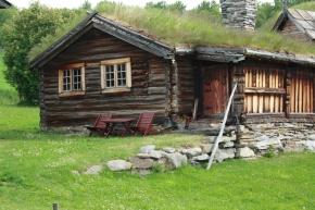 Her bodde vi i egen hytte.