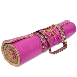 Holistic Silk Pink Yoga Rug Mat HR