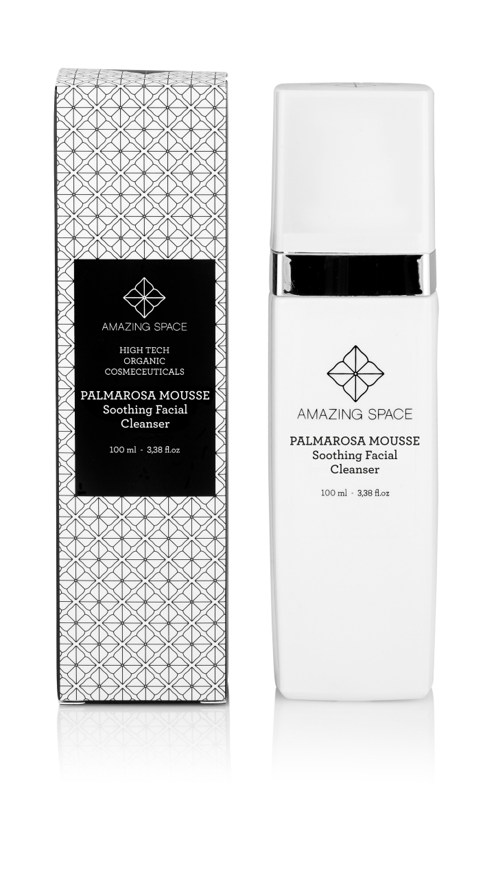 PALMAROSA MOUSSE, Soothing Facial Cleanser, Amazing Space-1